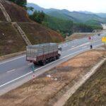Một đoạn cao tốc vùng núi
