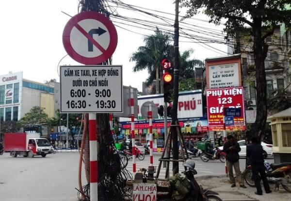 Đường cấm xe tải theo giờ